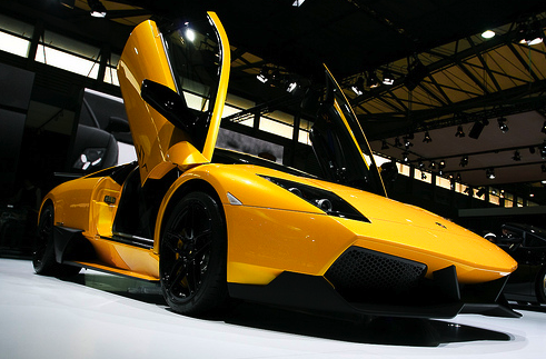 Car processed with PHP GD and lost the bright yellow color, giving a darker impression.